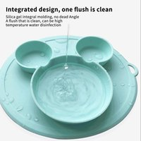 Bowls Baby Feeding Silicone Dinner Plate One-Piece Grid Plates Kids Tray Non-Slip Suction Cup Bowl Children Tableware