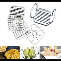 Kitchen, Dining Bar Home & Garden Drop Delivery 2021 5 In 1 Gadgets Stainless Steel Vegetable Fruit Tools Kitchen Aessories Cut Slicer Cutter