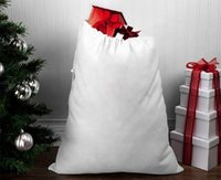 Christmas Sublimation Santa Sack Blank Large Santa Gift Bags Kids Personalized Christmas Gift Candy Bag Home Festival Supplies GWF10972
