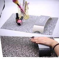Nail Art Kits 1Pcs DIY Salon Practice Cushion Background Cloth Rhinestone Table Mat Nails Accessories Manicure Tool