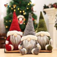크리스마스 장식 버팔로 크리스마스 인형 인형 수제 그놈 얼굴리스 플러시 장난감 선물 키즈 크리스마스 선물 FY7177