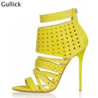 Gullick Fashion Front Strappy Ultra High High High High Woman Sandals 10 CM Nets Style Shoes for 2021 سعر المصنع