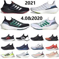 أحدث حذاء رياضي للرجال من Ultra Boost 2021 يعمل بالطاقة الشمسية أصفر ultraboost 4.0 كور ثلاثي أسود أبيض رمادي للرجال والنساء أحذية رياضية 36-45