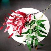 الزهور إكليل الزهور النباتات الاصطناعية مع زيتون الخيزران الأخضر يترك ديكور المنزل الأوكالبتوس أبل ورقة لحفل الزفاف