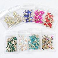 Nail Art Décorations 100pcs / Sac Platback AB White Coloré Strass 3D Glitter Charms Mix-Shape Manucure Stones DIY Designs JZ-ZD