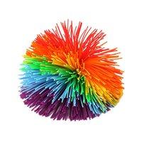 تخفيف الضغط لعبة 8 سنتيمتر rainbow تململ الكرة الحسية الطفل مضحك بسط الكرات الإجهاد الإغاثة الاطفال التوحد الاحتياجات الخاصة مكافحة الإجهاد 1104 v2