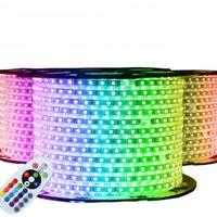 Fanlive 50M(meter) Waterproof 220V 230V 240V Flexible Led Neon Tube Outside Strip Light Ribbon String Backlight Strips
