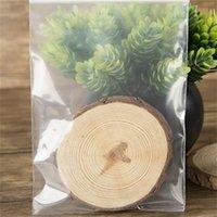 100 ADET Kalın Şeffaf Küçük Zip Kilidi Plastik Çanta Baggies Kilitli Zip Zipped Kilit Reclosable Temizle Poli Çanta Gıda Saklama Çantası 509 R2
