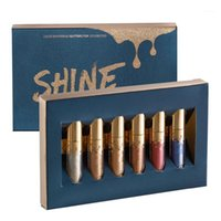 Belleza acristalada 6 PCS Colores Edición de cumpleaños Matte Limited Jeffrey Maquillaje Lipstick Lipgloss Lip Gloss Kit1