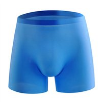 Mens Underwear Underpants Summer Sexy Ice Silk Men Seamless Transparent Boxer Shorts Ultra Thin Sheer Breathable Comfortable Panties