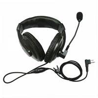 2pin Kafa Kulaklık Kulaklık Boom W / VOX PTT MIC Headphone Kulaklık Motorola 2 / İki Yönlü Radyo CLS1110 CLS1413 CLS1450 CLS1410 VL50