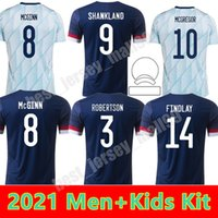 Scotland Football Jerseys 2021 Away Youth Robertson Fraser Chemise de football Naismith McGregor Christie Forresse McGinn Jersey Men Kit enfants