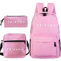 Backpack High Quality Friends Students Bookbag 3 Pcs Set Boy Girls SchoolBag Teens Travel Knapsack Men Women Laptop Bags Mochila