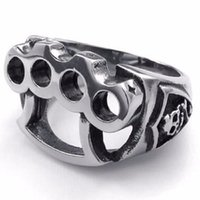 Cluster anéis exclusivo design homens anel de aço inoxidável crânio de encaixe a cor da luva em prata prata apresenta-lhe tamanho 7 13