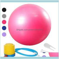 Forniture Sport Outdoors55 / 65/75 cm Yoga Esercizio Palla Pilates Fitness Gym Fit Anti Burst Slittamento Resistente alla resistenza alle palline di allenamento Consegna a goccia 20