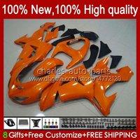 Faules de naranja brillante de la motocicleta para KAWASAKI NINJA ZX-10R ZX1000 ZX 10R 10 R 1000 CC 2006-2007 Bodywork 14NO.25 ZX1000C ZX10R 06 07 ZX1000CC 1000CC 2006 2007 Kit de cuerpo