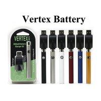 Batterie au lithium de Vape Micro USB Vertex Voltex Valtion Valtion 510 Fil 810 avec 350mAh Power 15S Fonction de préchauffage Cigarettes électroniques.