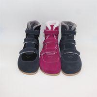 Tipsietoes Top Brand Barefoot Натуральная Кожа Детские Малыш Девушка Девушка Девочка Девочка Обувь для Моды Зимние Зигзиги Сножные Ботинки LJ200903