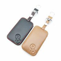 100% кожаный чехол для автомобиля ключ держатель брелок защитные аксессуары для Renault Laguna 2 смарт-кнопки оболочки крышки удаленного FOB