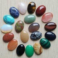 20 teile / los ganze 18x25mm 2020 naturstein gemischt oval cab Cabochon Teardrop Perlen für Schmuckherstellung