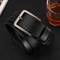 Belts Genuine Leather Belt Luxury Vintage Metal Pin Buckle Design Brand Strap Male For Jeans Designer Men High Quality
