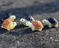 Черепаха фея сады миниатюрный мини животное черепаха смола искусственное ремесло бонсай садовые украшения 2 см 2 цвета DHL