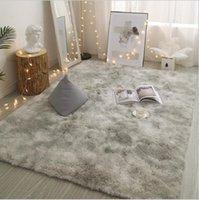 Plush Tie-Dyed Thick Carpet Living Room Children's Bedroom Bed Gradual Soft Fluffy Non-Slip Blanket Home Decor Floor Mat
