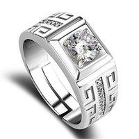 Beijo mandy clássico casal anel de casamento 6.5mm largura design simples anéis abertos com bezel configuração cz atacado jewlry