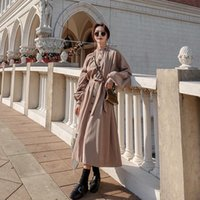 British Style Stand Collar Elegant Trench Coats For Business...
