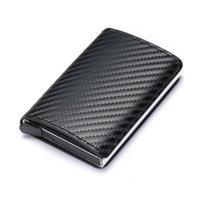 Card Holders Holder Wallet Men Women Metal RFID Vintage Aluminium Bag Mini PU Leather Bank Cardholder Case Blocking Purse