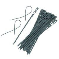 Herramientas de jardín 50 unids Cable de plástico Corbatas Soporte de escalada Soporte Pote Reutilizable Flor Planta Lazo Ajustable