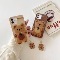 Bowknot медведь силиконовые защитные чехлы для телефона для iPhone 6 7 8 Plus X XR XS 11 12 Pro Max задняя крышка телефона