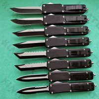 Full size Combat Dragon Double Action out the front Auto Knife Rubberized Zinc-Aluminum handle EDC Tactical Gear Automatic Pocket Knives Free Engraving Cncostco