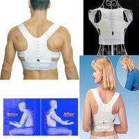 Cuerpo Shaper Ajustable Postura Magnética Soporte Corrector Atrás Dolor Corrección de hombros