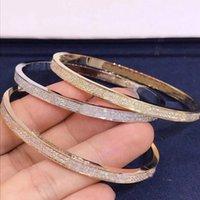 Классический розовый золотой двойной ряд алмазные отвертки браслет ювелирные изделия мода европейский и американский стиль любовь пара браслет