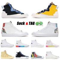2021 Top-Qualität Blazer Mid 77 Herren Damen Plateau Sneakers Schuhe Vintage Flyeather Ruohan Wang Indigo haben gute Spieldesigner Sport 36-45