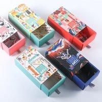 에코 친화적 인 상자 사용자 정의 로고 인쇄 럭셔리 엄밀한 골 판지 선물 포장 매트 슬라이딩 서랍 종이 목욕 수건 양말 스타킹 A290