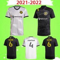 2021 2022 Columbus futbol formaları JONATHAN Zardes Nagbe Pedro Santos Zelarayan MLS Erkek futbol formaları gri siyah 21 22 Üniformalar ev uzakta
