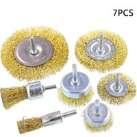 With 1 4 Inch Shank Drill Repairing Electric Grinder Practical Polishing Brass Coated Wheel Wire Brush Manual Cup Removal Rust