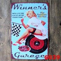 Metal Lata Sinais Sinclair Motor Óleo Texaco Poster Home Bar Decoração Da Arte Da Parede Imagens Vintage Garagem Sinal Homem Caverna Retro Sinais 20x30cm OWA4972