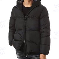 Hommes Hiver Jacket Down Parkas Manteau de haute qualité Down Jacket rond Col manteau d'hiver hommes et femmes coupe-vent veste à capuche à capuche