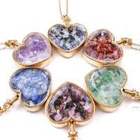 Crystal Heart Colgante Collares Party Supplies Ladies Drifting Deseando Botella de cristal Collar para mujer Joyería de moda HWC7510