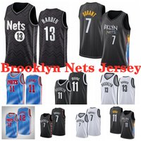 Kevin 7 Durant Basketball-Trikots Weiß Schwarz 13 Härten 12 Harris 23 Griffin 11 Irving Jersey NCAA 2021 Mens Youth Kids Edition City Shirt S-XXXL