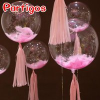 Party Decoration 100pcs pack 20g Colorful Nature Feather Balloon Accessories Wedding Birthday Clear Bubble Decor Supplies Children's Gifts