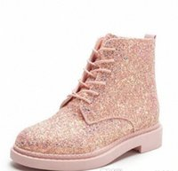 Spring Women Ankle Boots Flat Heels Sequins Shoes Woman Casual Botines Mujer Lace up White Booties Black Plus Size 35-39 M9x0#