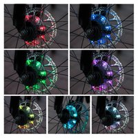 Bike Lights 2021 Ly 1pcs LED Bicycle Flower Drum Light USB Charging Wheels 7 Color Decorative Night Riding Lamps