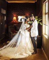 2020 Vintage African Mermaid Wedding Dresses Vestido De Noiva Long Sleeve Lace Wedding Gowns Black Girl Bride Dress