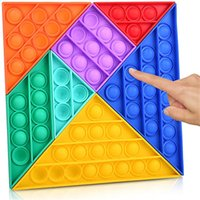 DHL Fidget Toys Jigsaw Tangrams adultos niños rompecabezas antiestress empuje burbuja autismo necesita antiestrés relevista sensorial digital
