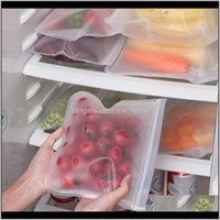Grocery Sml Eva Storage Containers Refrigerator Food Fresh Bag Reusable Fruit Vegetable Sealing Bags Kitchen Organizer Pouch Tda8Y Lhm3T
