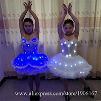 Party Decoration Led Luminous Women Ballet Dress Clothes Light Up Ballroom Costumes Growing Sexy Lady Evening Clothing Stage Show Suit